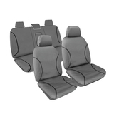 Tradies Full Canvas Seat Covers Isuzu Dmax Dual Cab 4X4 SX 2014-7/2020 Grey