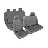 Tradies Full Canvas Seat Covers Toyota Hilux Workmate Dual Cab 5/2005-6/2015 Grey