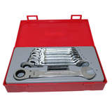 Teng Tools - 8 Piece Metric Flex Ratchet Spanner Wrench Set  TT6508RF