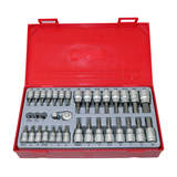 Teng Tools 35 Piece 1/4 & 3/8 inch Drive Bits Socket Set TTBS35