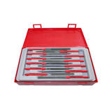 Teng Tools - 12 Piece  Needle File Set TC-Tray Flat TTNF12