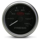 Saas 52mm 2 Inch Car Oil Pressure Gauge Black Face Multi Colour