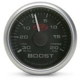 Saas 52mm 2 Inch Car Boost Gauge Black Face Multi Colour