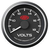 Saas 52mm 2 Inch Car Volt Meter Gauge Black Face Multi Colour